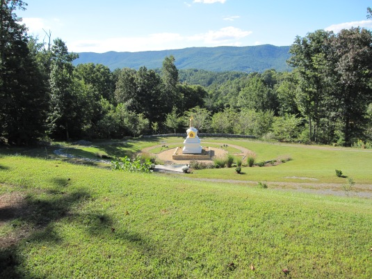 Stupa at Natural Bridge Bodhi Path