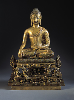 Buddha and Adorants on the Cosmic Mountain, c. 700 India: Kashmir, 675-725 Bronze with silver and copper inlay. The Norton Simon Foundation