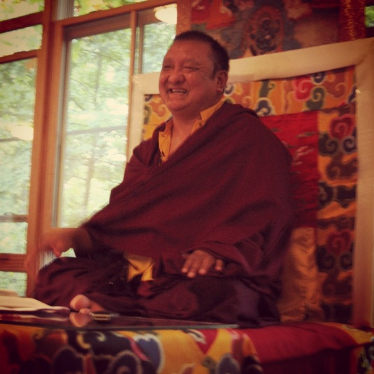Shamar Rinpoche, Bodhi Path Natural Bridge VA - Photo by Karma Sherab