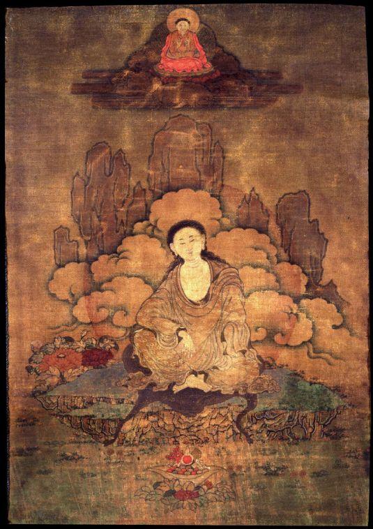 Milarepa Eastern Tibet 1800 - 1899 Kagyu Lineage - Courtesy www.himalayanart.com